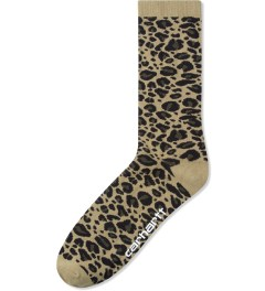 Carhartt WORK IN PROGRESS Leopard Jacquard/Leather Gilbert Socks Picutre