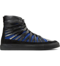 Damir Doma Black/Blue FALCO High Layered Sneakers Picutre