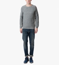 A.P.C. Dark Blue Sweat Basic Sweater Model Picutre