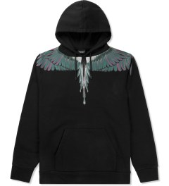 Marcelo Burlon Black/Green Alas Hoodie Sweater Picutre