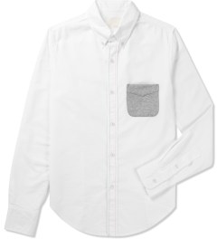 Band of Outsiders White L/S Button Down Shirt Picutre