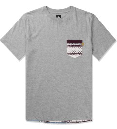 Stussy Heather Grey Dot Tom Pocket T-Shirt Picutre