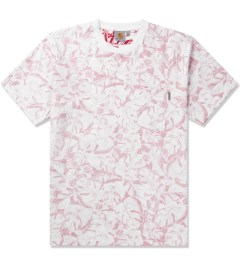 Carhartt WORK IN PROGRESS Red/White Lotus Print S/S Howe T-Shirt Picutre