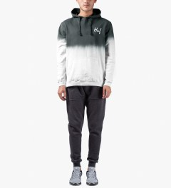 HUF Charcoal/White Tie-dye Pullover Hoodie Model Picutre