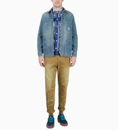 FUCT SSDD Beige SSDD Vintage Wash Chinos Model Picutre