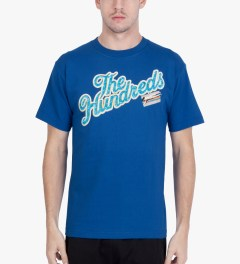 The Hundreds Royal Blue Poolside T-Shirt Model Picutre