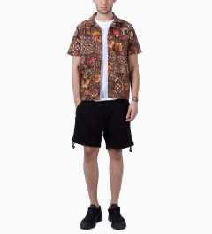 Stussy Brown Indo Shirt Model Picutre