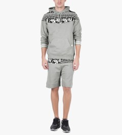 Hall of Fame Heather Grey Raider Hoodie Model Picutre