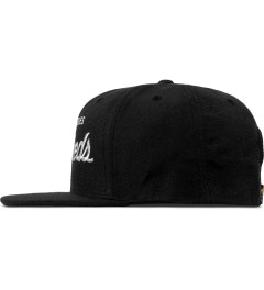 The Hundreds Black Forever Team Snapback Cap Model Picutre