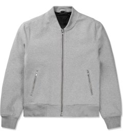 MKI BLACK Grey Sweatshirt Bomber Jacket Picutre