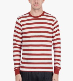 Head Porter Plus Red Border L/S T-Shirt Model Picutre