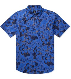Stussy Blue Gold Flake Shirt Picutre