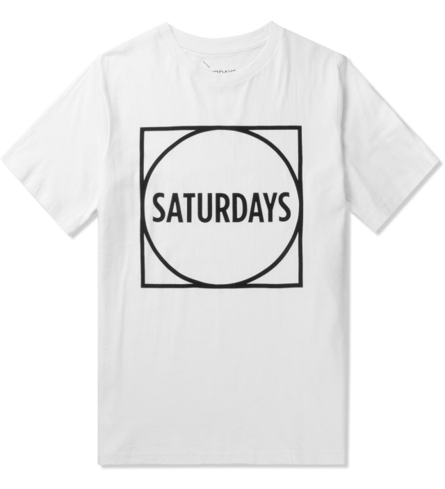 White Circle Square T-Shirt