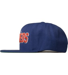 The Hundreds Blue Albany Snapback Cap Model Picutre