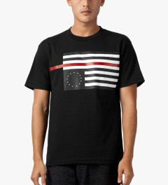 Black Scale Black Rebel Red Flag T-Shirt Model Picutre