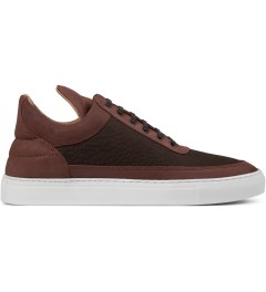 Filling Pieces Elephant Embossed Brown Low Top Shoe Picutre