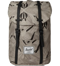 Herschel Supply Co. Geo/Black Rubber Retreat Backpack Picutre