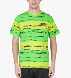 The Hundreds Pop Green Marble T-Shirt Model Picutre