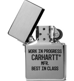 Carhartt WORK IN PROGRESS Silver/Black Zippo Lighter Model Picutre