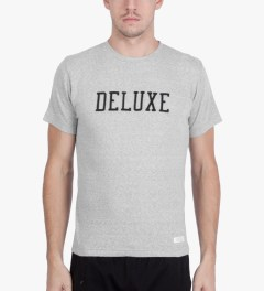 Deluxe Grey Deluxe Logo T-Shirt Model Picutre