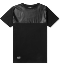 Grand Scheme Black Leather Trim T-Shirt Picutre
