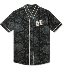 10.Deep Black Blue Diamond Baseball Jersey Picutre