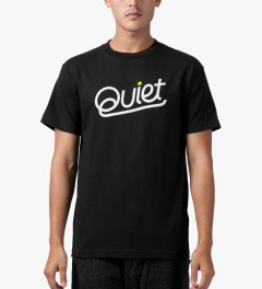 The Quiet Life Black Quiet Script T-Shirt Model Picutre