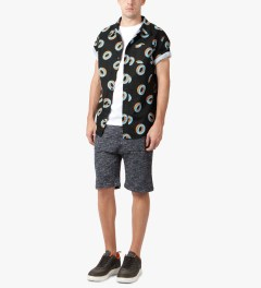 Odd Future Black Donut All Over S/S Woven Shirt Model Picutre