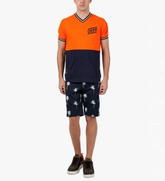 10.Deep Navy Camp Shorts Model Picutre