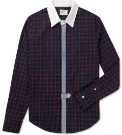 Band of Outsiders Navy L/S Blocked Shirt Picutre