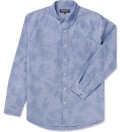 Acapulco Gold Blue Camo Oxford L/S Button Down Shirt Picutre
