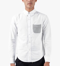 Band of Outsiders White L/S Button Down Shirt Model Picutre