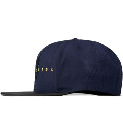 The Hundreds Blue Floradam Snapback Model Picutre