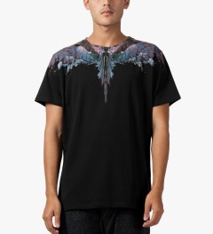 Marcelo Burlon Black Alas Agua T-Shirt Model Picutre