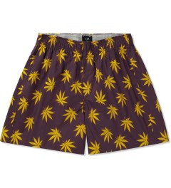 HUF Wine/Gold Plantlife Boxers Picutre