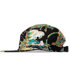 HUF Black Souvenir Volley 5-Panel Cap Model Picutre