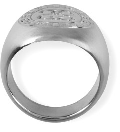 Stussy Silver Greek Ring Model Picutre
