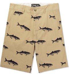 ONLY Khaki Bluefish Chino Shorts Picutre