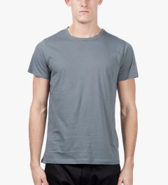 A.P.C. Grey Blue Down T-Shirt Model Picutre