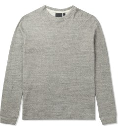 Naked & Famous Mid Grey SlimCrew Vintage Sweater Picutre