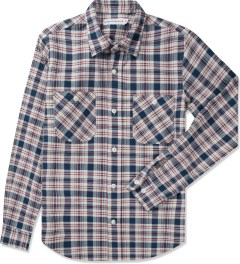 Head Porter Plus White Nel Check L/S Shirt Picutre