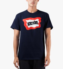 ICECREAM Navy Bar Logo T-Shirt Model Picutre