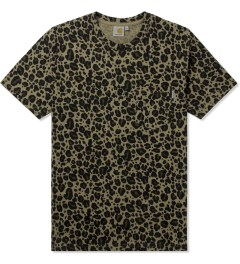 Carhartt WORK IN PROGRESS Leopard Print S/S Pocket T-Shirt Picutre