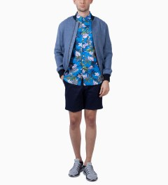 Stussy Blue Paradise Shirt Model Picutre