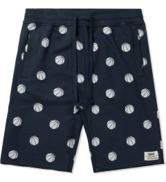 Lemar & Dauley Navy From The Dots Sweatshorts Picutre