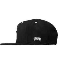 Stussy Black Leather S Cap Model Picutre