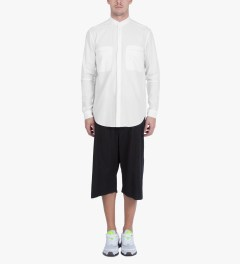 Damir Doma Optic White SABLE Stand Up Collar Shirt Model Picutre