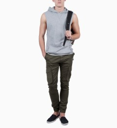 ZANEROBE Dark Khaki Buckshot Pant Model Picutre