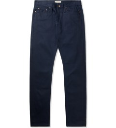 The Unbranded Brand UB208 Navy Chino Tapered Selvedge Jeans Picutre