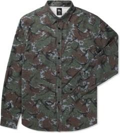 Stussy Navy Cheetah Camo Shirt Picutre